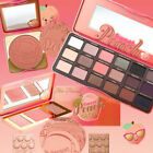 too faced sweet peach highlighting blusher eye shadow palette collection new
