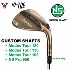 TaylorMade Milled Grind Hi-Toe Wedge 50* to  64* Custom Nippon Shafts - Pick One