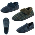 Men Home House Anti-slip Shoes Winter Warm Plaid Wool Plush Indoor Slippers US14