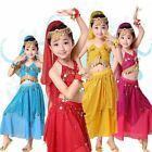 Children Kids Belly Dance Outfits Indian Dancing Fancy Dress Sequins Costume Hot