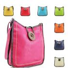 Women 1036 Button Cross Body Ladies Fashion Shoulder Messenger Side Tote Bag