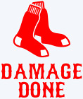 Boston Red Sox Damage Done Logo Decal Window Sticker - You pick Color