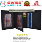 Внешний вид - Swiss Marshall Men's RFID Blocking Premium Leather Classic Trifold Wallet