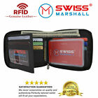 Men's Zipper RFID Blocking Premium Leather Zip-Around ID Bifold Wallet