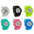 Kids Students Girls Boys Multifunction Alarm Date LED Digital Sports Wrist Watch image