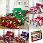Xmas Bedding Set Duvet Quilt Cover Comforter Covers Bed Sheet Pillowcase Decor image