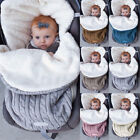 Baby Swaddle Blanket Wrap Newborn Sleeping Bag Warm Knitted Fleece Stroller Sack