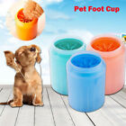 Portable Dog Paw Cleaner Pet Cleaning Brush Cup Dog Foot Cleaner Feet Washer US
