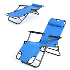 Zero Gravity Folding Chaise Lounge Chair Outdoor Pool Patio Recliner Reclining