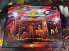 Miracle. Spray Paint Art. Stretched Canvas.