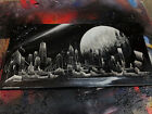 Moonshine. Spray Paint Art. Stretched Canvas.