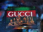 Gucci. Spray Paint Art. Stretched Canvas.