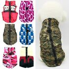 Waterproof Dog Warm Vest Coat Puppy Padded Clothes Camo Pattern Small Dog Jacket