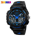 SKMEI Sports Waterproof Mens Watches Quartz Digital LED Dual Display Wristwatch