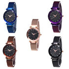 HOT Women Starry Sky Rhinestone Magnetic Band Round Dial Quartz Wrist Watch Beam image