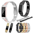 Stainless Steel Watch Band Wrist Strap Metal Bracelet For Fitbit Charge 3 / 3SE image