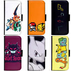PIN-1 Game Pokemon B Phone Wallet Flip Case Cover for Samsung