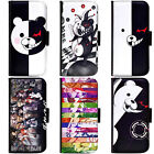 PIN-1 Anime Danganronpa Phone Wallet Flip Case Cover for Samsung