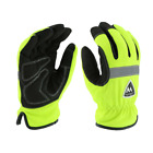 Hi-Viz Insulated Waterproof Work Gloves Hi Vis Green Sizes Small-2XL