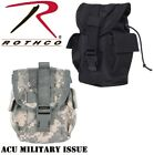 Black & Acu Camo Tactical MOLLE Canteen Cover Utility Pouch Rothco 40014 40114