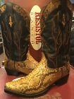 RESISTOL RANCH Men's M3209 Python Leather Taupe/ black Western Leather Boots