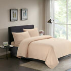 Comforter Duvet Cover Set Twin Full/Queen King Embossed Fade Resistant Cream image