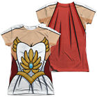 New Authentic She-Ra Princess of Power Costume Outfit Uniform Front Back T-shirt