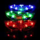 Colorful Glowing Cobweb style Luminous Neon Light  Stylish Glasses LED Glow
