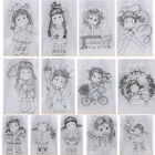 Внешний вид - Happy Girl Transparent Silicone Clear Stamp Cutting Dies DIY Scrapbook Embossing