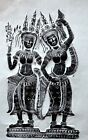 Authentic Art ANKOR WAT Reproduce By Rubbing Of Angel Apsara Dance Wall Decor