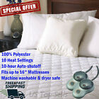 Electric Heated Mattress Pad Comfort Warming Bedding Sheets Warmer ALL SIZES image