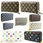 New Synthetic Leather Printed Patterned Checkered Ladies Large Wallet Purse