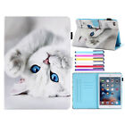 For iPad Mini Case 9.7 2018 6th Gen Painted Leather Wallet Card Slot Stand Cover