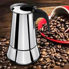 Stainless Steel Espresso Moka Coffee Maker Stove Top Percolator Pot 2/4/6/9 Cups
