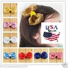 Sequin Bow Hair Clips Puffy Sequined Bow Clips Toddler Girls Baby Kids Big Bow