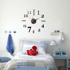 Modern Small/Large Number Wall Clock 3D Mirror Surface Sticker Home Decoration--