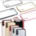 TPU Gel Case Electroplated Chrome Sides & Clear For iPhones 6G/6SP,6P,7G,7P/8P