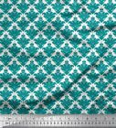 Soimoi Fabric Ornate Filigree Damask Print Sewing Fabric BTY - DK-28I