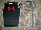 UNDER ARMOUR New NWT Boys Youth Tank Top Shirt Camo Camouflage Real Tree 5 6 7