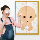Pin the Dummy on the Baby Game Baby Shower Party Games ~ Boy Girl Unisex #077 <br/> Poster, Blindfold & Horn Stickers! 10-50 Players!