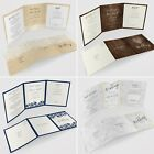 PersonalisedTri-Fold Wedding Invitations Includes RSVP, Poem or Info Cards #073