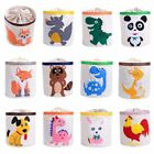 Cartoon Animal Printed Laundry Basket Foldable Storage Toy Collection Organizers