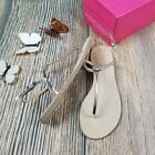 New KRISTIN CAVALLARI by CHINESE LAUNDRY sz 6.5/7 silver leather thong sandal