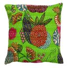 Christmas Gift Indian Handmade Kantha Decor Cushion Cover-Bed Pillow-Throw 16*