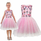 For Girls Princess Dress Party Pageant Holiday Tutu Dress Gift