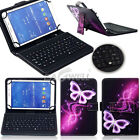 "US For 10"" 10.1"" inch Tablet PC Pattern PU Leather Cover Micro USB Keyboard Case"