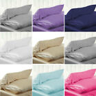 Solid Queen/Standard Silk Satin Pillow Case Bedding Pillowcase Smooth Home 2019 image