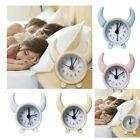 Shabby Bedside Table Analog Alarm Clock Battery Operated Travel Clock Loud