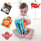 Soft Cloth Educational Toys Baby Boys Girls Rustle Sound Infant Books 12 Pages