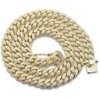 Hip Hop Bling Iced 12MM Cuban Link .925 Sterling Silver Chain 26""